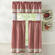 Gingham Stitch Window Treatments