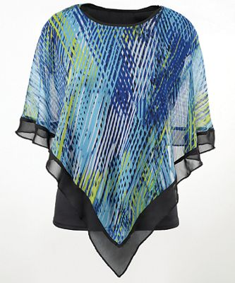 Peacock Overlay Top by Seventh Avenue