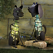 hand painted solar glass bottle animals