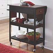 Mobile Drop-Leaf Table Cart