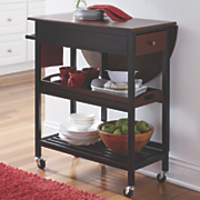mobile drop leaf table cart