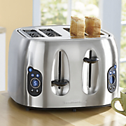 stainless steel 4 slice toaster by hamilton beach