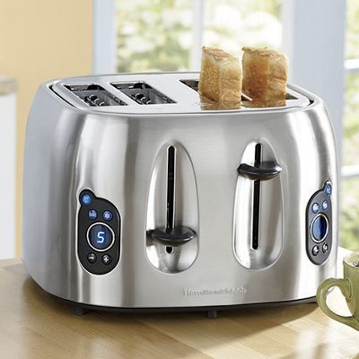 Stainless Steel 4-Slice Toaster by Hamilton Beach