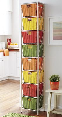 Space-Saving Basket Tower