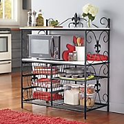 Fleur-De-Lis Microwave Cabinet