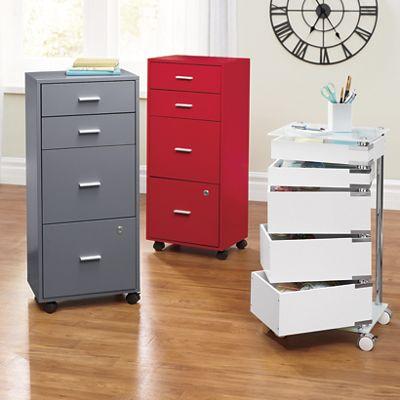 Locking 4-Drawer File Cabinet