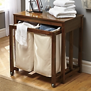 Double Hamper Laundry Table