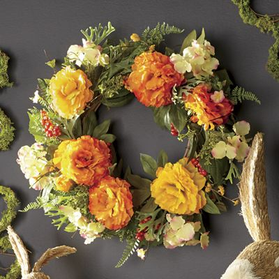 Spring Yellow Floral Wreath