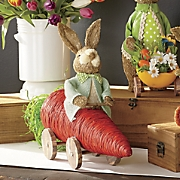 cottontails sisal bunny with carrot car