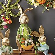 cottontails sisal bunny with wheelbarrow