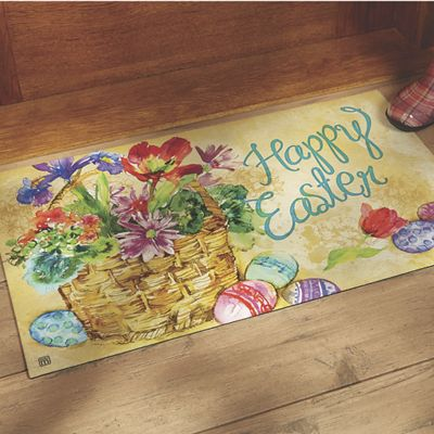 """Easter Indoor/Outdoor Mat - 17 3/4"""" X 29 1/2"""""""