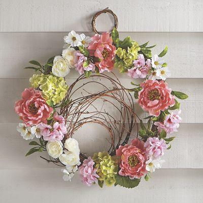 Pink Peony/Hydrangea Wreath