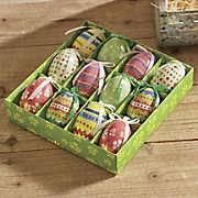 set of 12 easter decoupage eggs