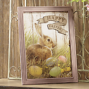 easter sign with rabbit