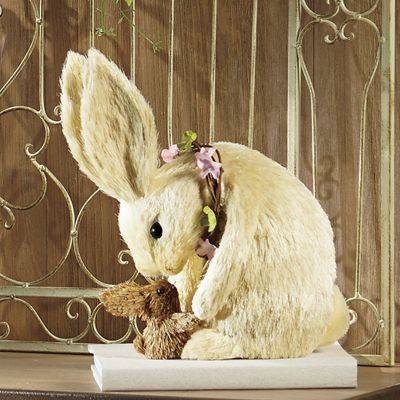 Sisal Bunny with Baby Bunny