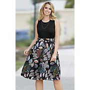 glenda box pleat dress