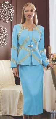 Charlotte Soutache Skirt Suit