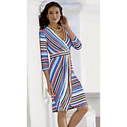 surplice stripe dress