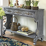 gray ornate console