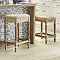 Ivory Nailhead Counter Stool