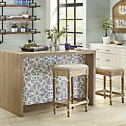 ivory nailhead stools