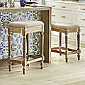 Ivory Nailhead Bar Stool