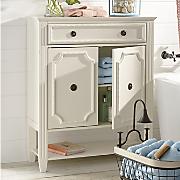 beaded bath cabinet