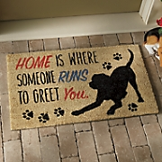 home is where  dog mat   18  x 30 1 2