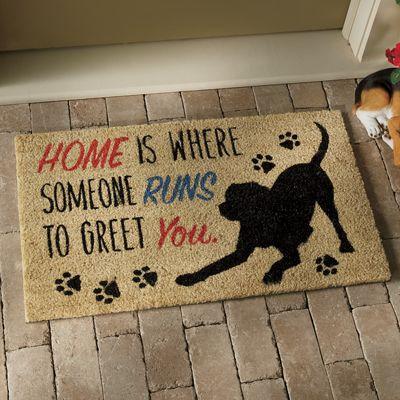 """Home Is Where"" Dog Mat - 18"" X 30 1/2"""