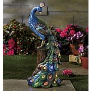 Resin Solar Peacock