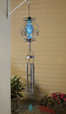 Solar Light with Wind Chimes