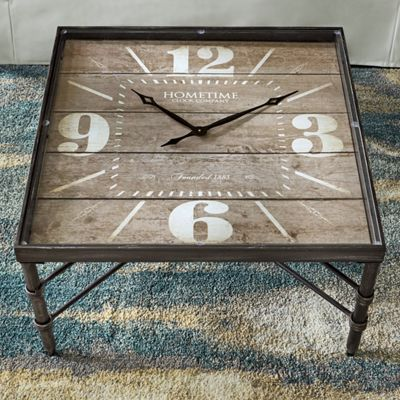 Clock coffee table from country door ni757711 Coffee table with clock