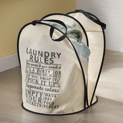Laundry Rules Hamper