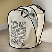 Laundry Rules Hamper