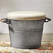 galvanized bucket stool