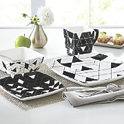 Black/White Geometric Dinnerware Set