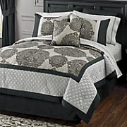 Masterpiece Jacquard Bed Set, Accent Pillow and Window Treatments