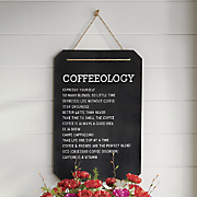 Coffeeology Metal Sign