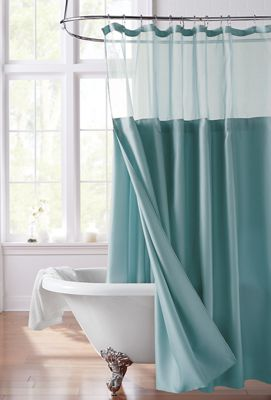 Shower Curtain with Snap-On Liner