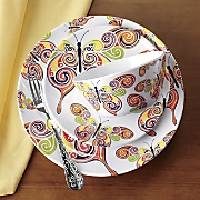 12 pc  butterfly swirl melamine dinnerware set