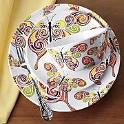Butterfly Swirl Melamine Dinnerware Set