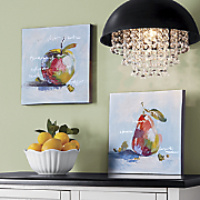 Set of 2 Abstract Fruit Canvas