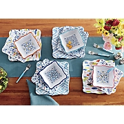 12 pc  melamine square dinnerware set