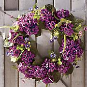 purple geranium wreath