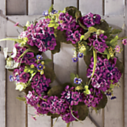 purple geranium wreath
