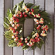 rose bud wreath