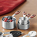 Stainless Steel Measuring Cups by Oneida