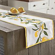 lemon table runner