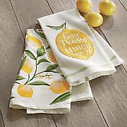 set of 2 lemon towels