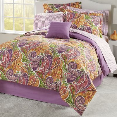 Palau Complete Bed Set, Accent Pillow and Window Treatments